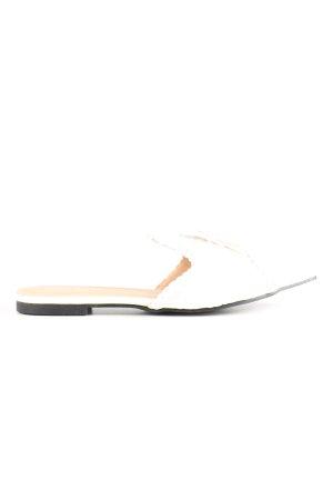 SheIn Sabot biały W stylu casual