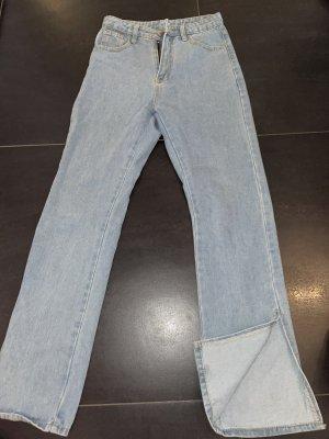 Sheinside Jeans a zampa d'elefante azzurro