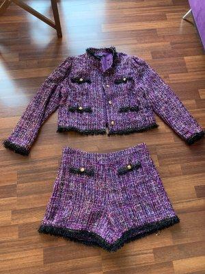 SheIn Trouser Suit black-dark violet