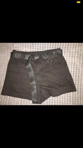 SheIn Pantalón corto de talle alto negro