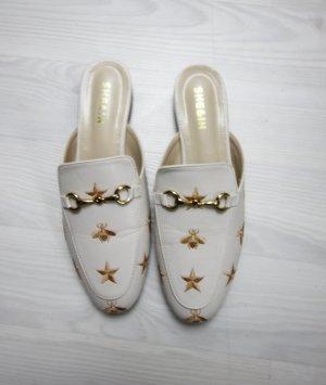 Shein Slipper Flats Schuhe mit Bienen Sternchen Motiv