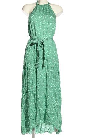 SheIn Sommerkleid grün-weiß Punktemuster Casual-Look
