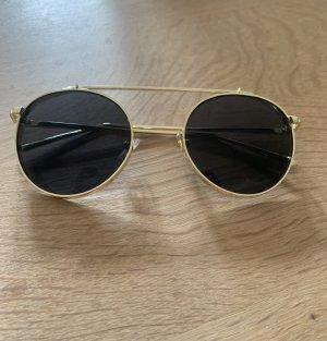 SheIn Okrągłe okulary przeciwsłoneczne czarny-złoto