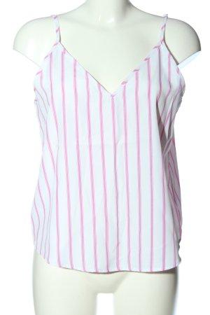 SheIn Spaghettiträger Top weiß-pink Streifenmuster Casual-Look