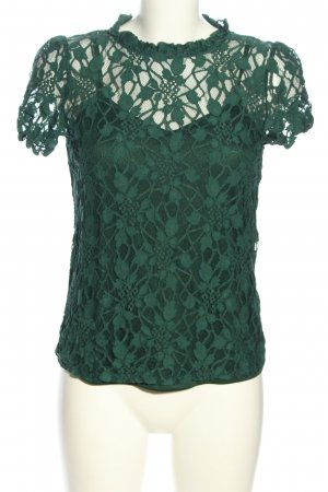SheIn Lace Top green business style