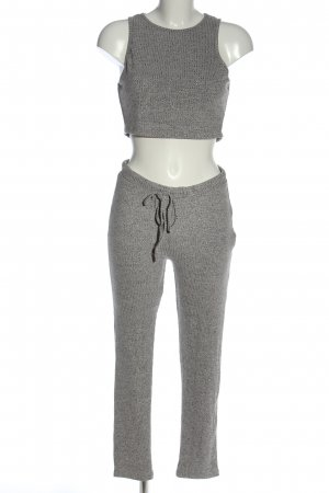 SheIn Knitted Twin Set light grey flecked casual look