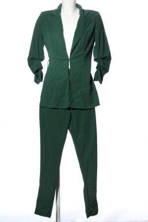 SheIn Dzianinowy podwójny zestaw  zielony W stylu biznesowym