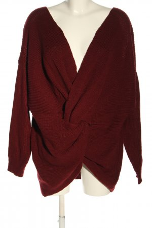 SheIn Strickpullover rot Casual-Look