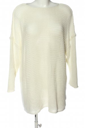 SheIn Knitted Sweater white casual look