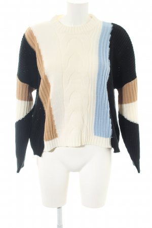 SheIn Strickpullover Zopfmuster Casual-Look