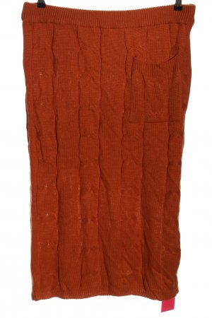 SheIn Jupe tricotée brun torsades style décontracté