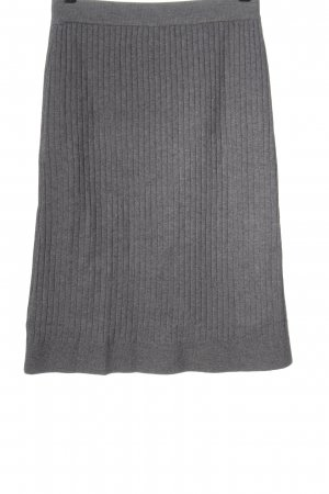 SheIn Knitted Skirt light grey flecked casual look
