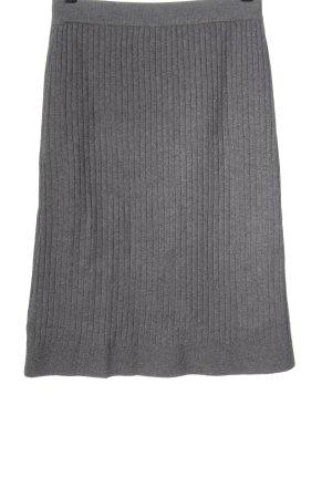 SheIn Jupe tricotée gris clair moucheté style décontracté