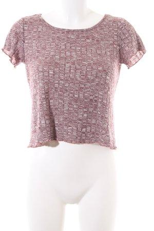 SheIn Strickshirt pink-weiß meliert Casual-Look