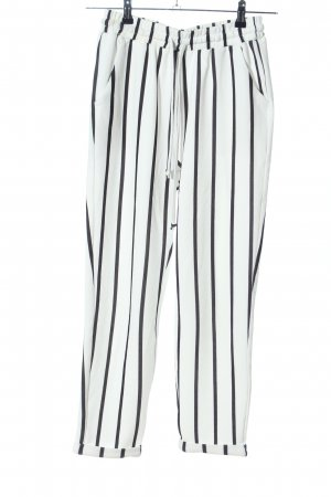 SheIn Sweat Pants white-black striped pattern casual look