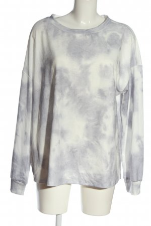SheIn Sweat Shirt light grey-white allover print casual look