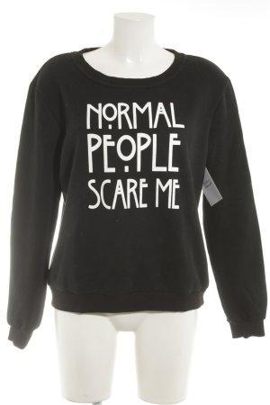 SheIn Sweatshirt schwarz Casual-Look