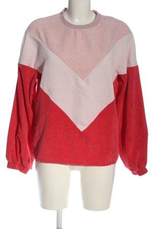 SheIn Sweatshirt wollweiß-rot Casual-Look