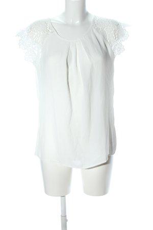 SheIn T-Shirt weiß Blumenmuster Casual-Look