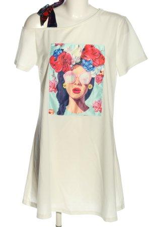 SheIn T-Shirt weiß Motivdruck Casual-Look