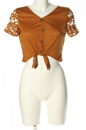 SheIn T-Shirt hellorange meliert Casual-Look