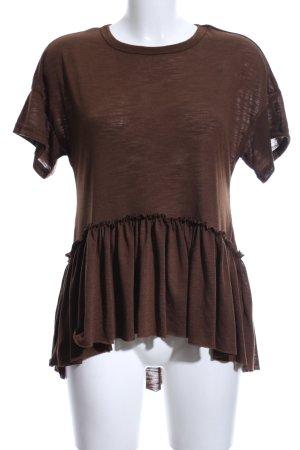 SheIn T-Shirt dunkelbraun Casual-Look