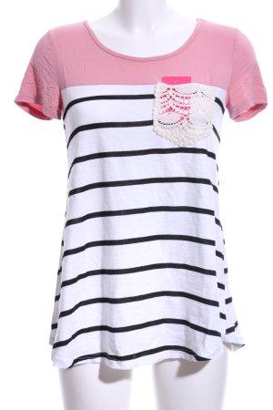 SheIn T-Shirt Streifenmuster Casual-Look
