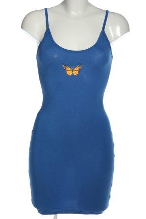 SheIn Trägerkleid blau Motivdruck Casual-Look