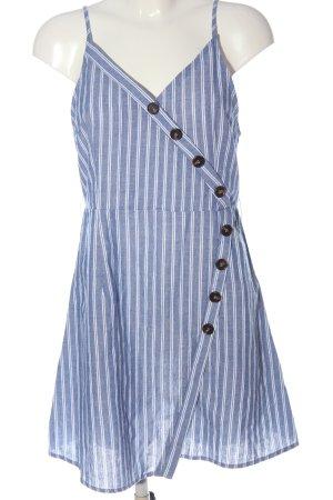 SheIn Trägerkleid blau-weiß Streifenmuster Casual-Look