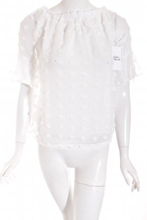 SheIn Transparenz-Bluse weiß Street-Fashion-Look