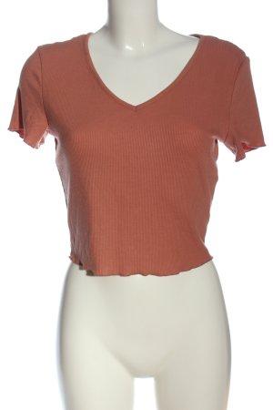 SheIn V-Ausschnitt-Shirt nude Casual-Look