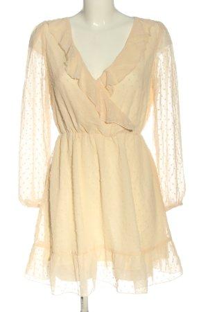 SheIn Sukienka z falbanami kremowy W stylu casual
