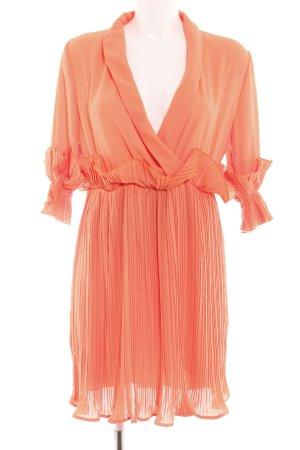 SheIn Robe à volants orange clair style décontracté