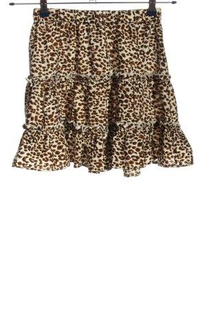 SheIn Flounce Skirt leopard pattern casual look