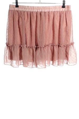 SheIn Falda de encaje rosa estampado a lunares look casual