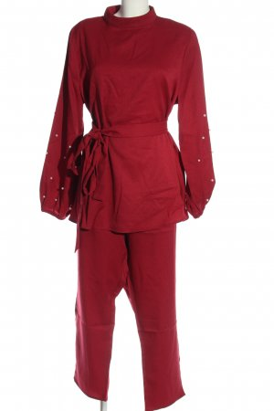 SheIn Woven Twin Set red casual look