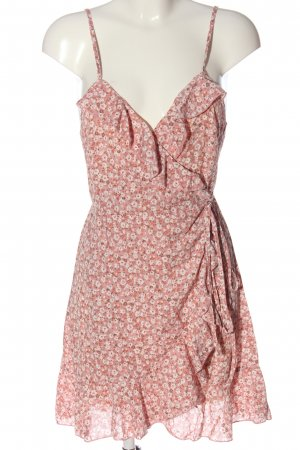 SheIn Wraparound pink-natural white allover print casual look