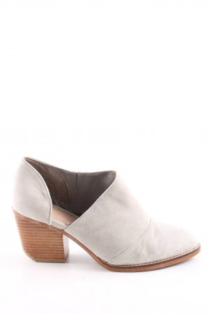 Shellys Cut Out Booties sage green-light brown casual look