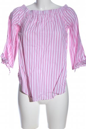 sheln Carmen-Bluse pink-weiß Allover-Druck Casual-Look