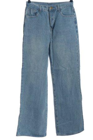sheln Jeansowe spodnie dzwony niebieski W stylu casual