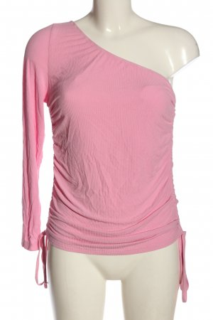 sheln Eénschoudershirt roze casual uitstraling