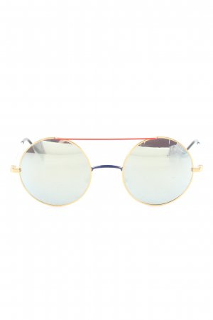 Sheriff & Cherry runde Sonnenbrille blau Casual-Look