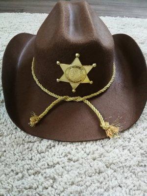 Chapeau de cow-boy brun