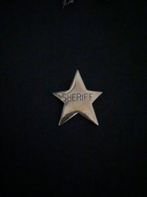 Sheriffs Stern Modeschmuck Brosche