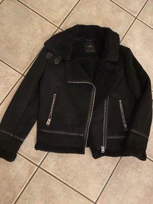 Zara Veste d'aviateur noir