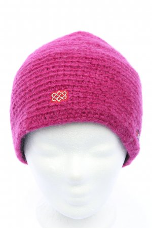 Sherpa Knitted Hat pink casual look