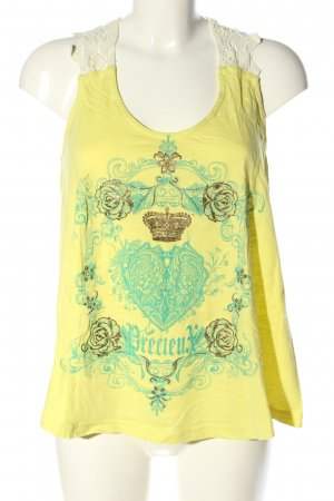 Shine A Line Top themed print casual look