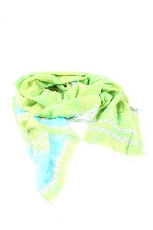 SHINGORA Sommerschal grün-blau abstraktes Muster Casual-Look