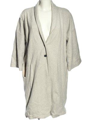 SHIPSHEIP Oversized Coat light grey flecked casual look