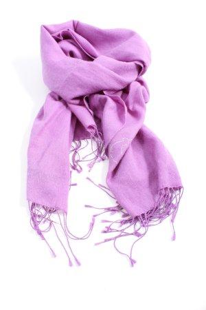 Shirin  Sehan Szalik z kaszmiru fiolet Wyhaftowany logo W stylu casual